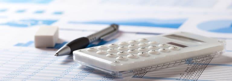 Calculator on paperwork