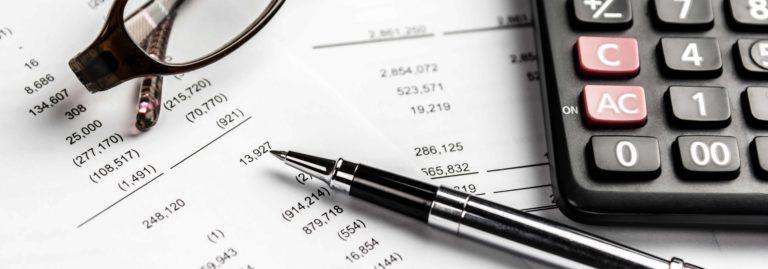 Accounting materials and calculator